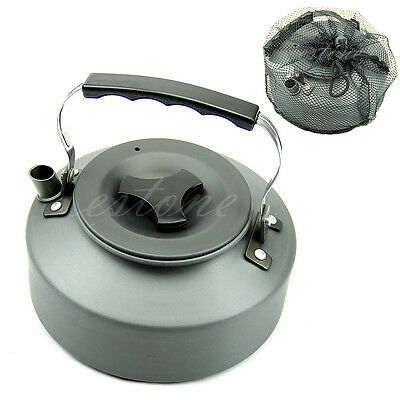 Portable 1.1L Aluminum Camping Survival Water Kettle Teapot Coffee Pot Outdoor