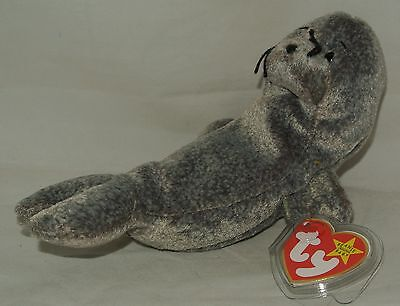 Ty Beanie Baby Slippery the Seal RETIRED - USA SELLER MWMT's