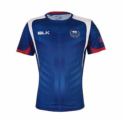 Samoa Rugby Union BLK 2015 Players Training T Shirt Size S-7XL! Manu Samoa!