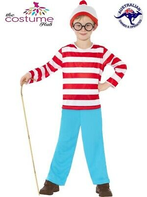 Book Week Kids Wheres Wally Costume Boys Wally Waldo Stripy Top