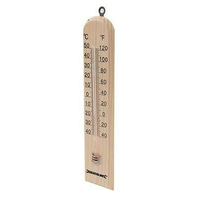 Traditional Hardwood thermometer with mercury-free -40° to +50°C 490745