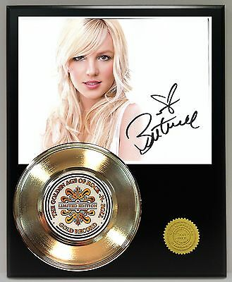 Britney Spears Reproduction Signature Gold Record Ltd Edition Display