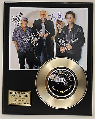 Fleetwood Mac Reproduction Signature Gold Record Limited Edition Display