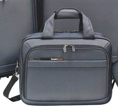 """Traveler's Choice Mendocino Gray Blue 15"""" Carry-on Boarding Under Seat Tote Bag"""