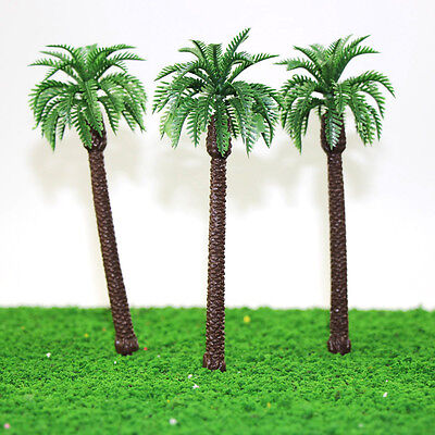 YS01 10pcs 7 inch Height Model Palm Trees Model Layout Train Scale 1/60 O HO NEW