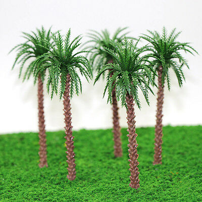 YS02 20pcs 5 inch Model Qil Palm Trees Model Layout Train Scale 1/100 TT HO NEW