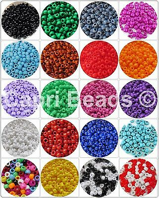 Opaque Pony Beads 50/100/200/300 Packs - Hair Braiding, Dummy Clips - 6x9mm