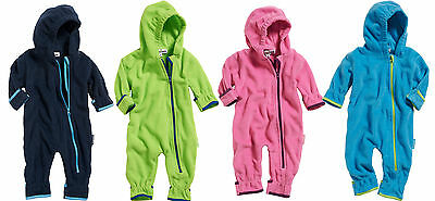 Playshoes Fleece-Overall farblich abgesetzt Polyester