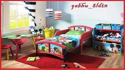 MICKEY MOUSE BED w Bed RailsToddler Children Kids Room ...