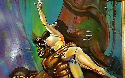 Frazetta style painting, The rape of Teegra by pallominy Reproduction oil on woo