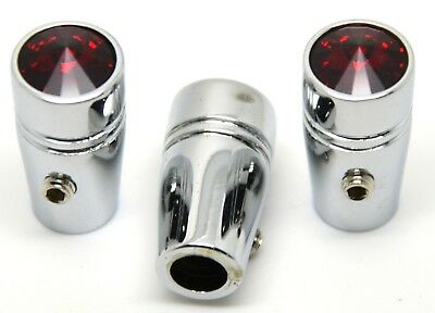 "toggle switch extensions(3) mini red jewel 1"" chrome aluminum for Peterbilt"