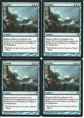 mtg Magic 4x Whelming Wave ( Tromba )  Spanish Excellent Born Of The Gods