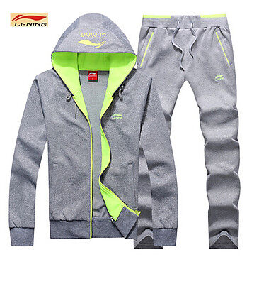 New Li Ning Men's clothes Hooded Jackets tennis Long-sleeved sportswear coats