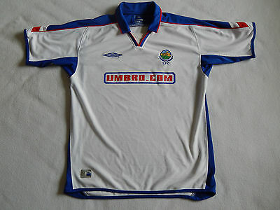 Linfield Fc Irish League Northern Ireland Signed White Away Shirt , Mens Medium