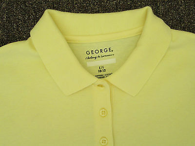 Boys shirt polo small med large XL yellow red green blue gray black NEW George