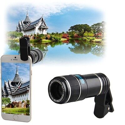 Universal 12X Zoom Mobile Phone Clip-on Camera Lens for Cell Phone iPhone 6