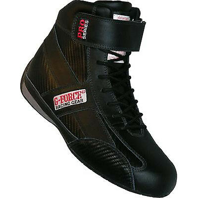 G-Force 0236100BK GF236 Racing Shoes  SFI 3.3/5 Rating Size 10 Black - High Top