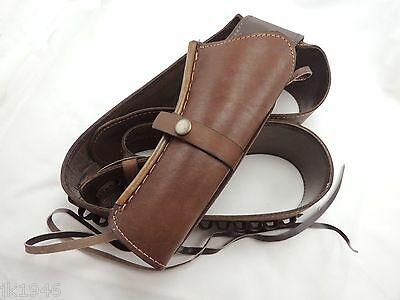 Traditional Fast Draw Oiled Brown Leather Rh Holster Cowboy