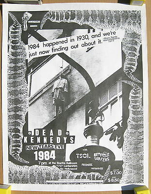 DEAD KENNEDYS Starlite Ballroom 1984 New Years Eve CONCERT POSTER PUNK TSOL KBD