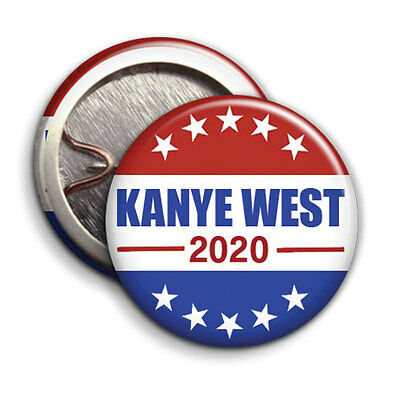 KANYE WEST for President 2020 Button Badge / Pinback - 25mm 1 inch -Parody Style