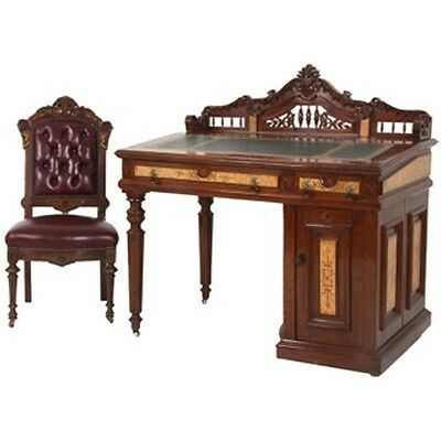 Antique Wooton Rotary Desk