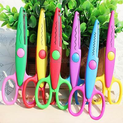 Craft Decorative Edge Scissors Colorful Safety Waves Photos DIY Paper Arts Cut