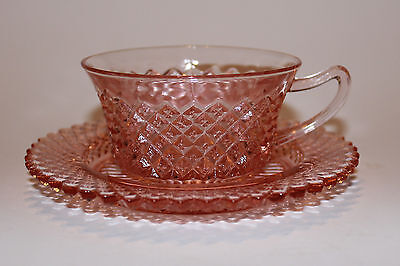 Pink Depression Glass - Anchor Hocking Miss America Pattern – Cup & Saucer