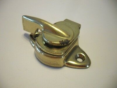 VINTAGE Brass Plated Steel Window Sash Lock Good Pre-owned Condition!