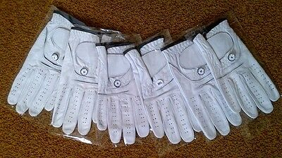 Brand New Cabretta Leather Golf Gloves *(6 Pack)* -Select Hand & Size