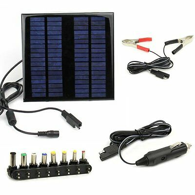 18V 2W Portable Solar Panel Battery Backup Charger For Laptops Car Camping