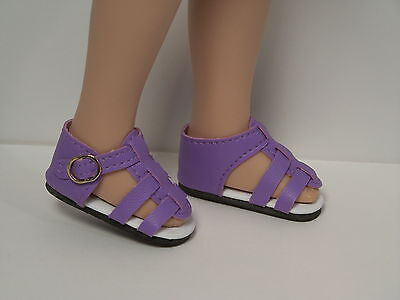 PURPLE Strappy Sandals Doll Shoes For Hopscotch Hill Collection DEBs