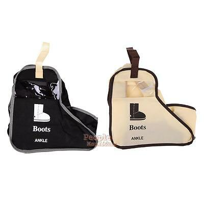 Long Riding Rain Ankle Boots Leather Shoes Ugg Storage Bag Organizer Travel Case