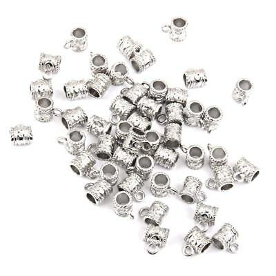 50x Vintage Tibetan Silver Connectors Bails Charms Beads DIY Jewelry Making