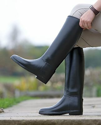 Long Rubber Riding Boots - Mens Horse Riding Footwear Stable Yard