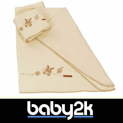 *Sale* Dormouse Dandelion Dayz Neutral Fleece Blanket Baby Nursery Cot Bed BN
