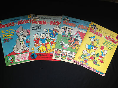 "Four Walt Disney ""Donald And Mickey"" Comics (5)"