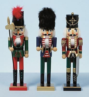 38Cm Xmas Christmas Traditional Style Nutcracker Wooden Guard Ballet Decoration