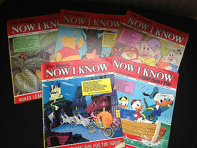 "Five Walt Disney ""Now I Know""  1970's Comics (2)"