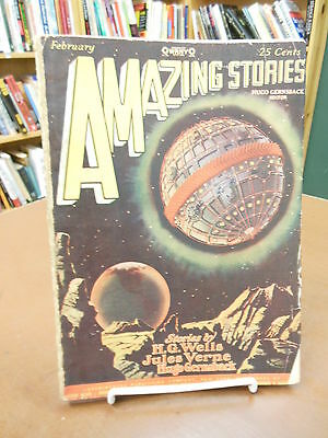 Amazing Stories Science Fiction Pulp February, 1928 Vol. 2, No. 11 Verne Wells