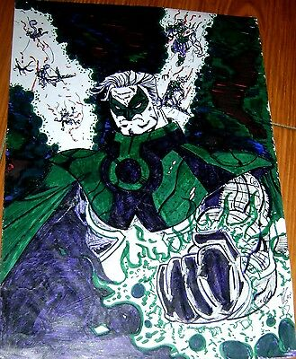 Green Lantern Original Art Signed Argentine Convention 2001
