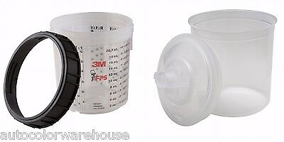 3M PPS Starter Kit Standard Size Hard Cup plus 10 Lids and Liners