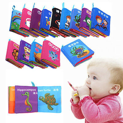 Soft Cloth Educational Intelligence Development Learn Cognize Book For Kids Baby