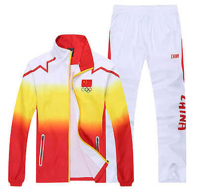 New Chinese team sportswear embroidery flag Men's clothing Jacket caots+ Pants
