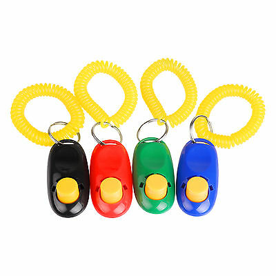4X Dog Pet Puppy Cat Training Clicker Click Button Trainer Obedience Aid Wrist