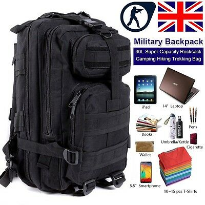 30L Molle Military Army Bag Tactical Rucksack Backpack Camping Hiking Trekking