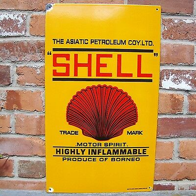 Shell Oil enamel sign garage sign vitreous advertising oil new VAC159