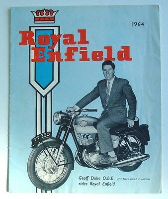 ROYAL ENFIELD Motorcycles Sales Brochure 1964  CLIPPER Turbo Twin CONTINENTAL ++
