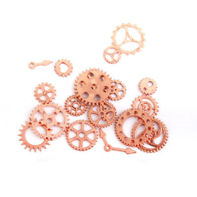 20Pcs Steampunk Charms Gear Clock Pendant Charms Jewelry Findings Rose Gold
