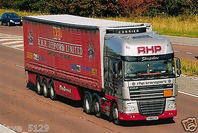 Truck Photo: RHP Transport - DAF XF - SV08 CXA - TELFORD Shropshire Road Haulage