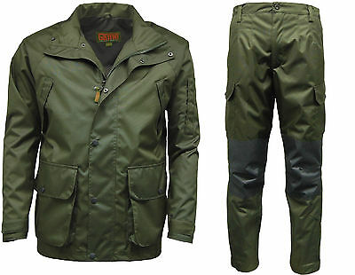 Mens Game Durus Hardshell Waterproof Breathable Green Hunting Jacket / Trouser